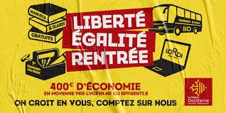 Opération gratuité des manuels scolaires en Occitanie